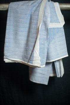 Indian Blockprint - Stripe Indigo (Merchant & Mills)