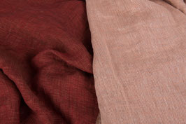 Linen Double Gauze - Red Rose