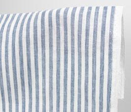 Linen Tea Towel - Stripes Blue