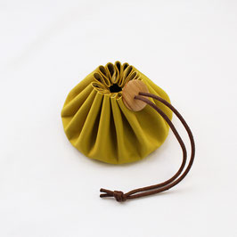 SOLD OUT! Himeji Leather Pouch Yellow (Cohana)