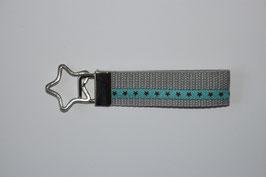 Schlüsselanhänger Sternchen grau