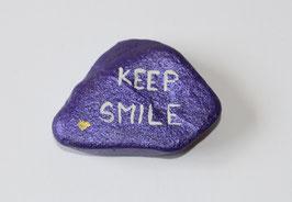 """Glücksstein """"Keep smile"""""""