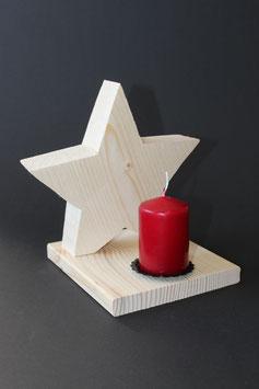Holzstern Kerzenschein