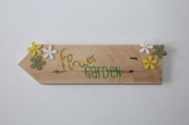 """Holzschild """"flower garden"""""""