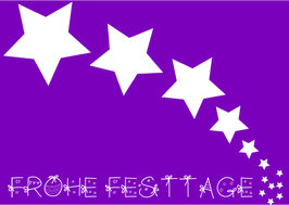 "Postkarte ""Frohe Festtage"""
