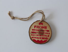 "Holzanhänger ""Frohe Weihnachten"""
