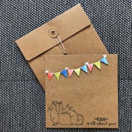 """Geburtstagskarte """"Mäusebande"""""""