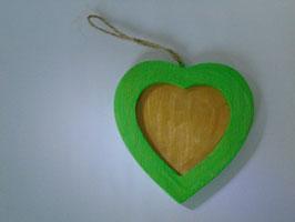 Wechselrahmen Herz Holz