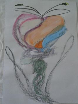 Die Blume der leidenschaftlichen Traurigkeit