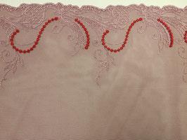 Spitze rosa/korallrot/beige