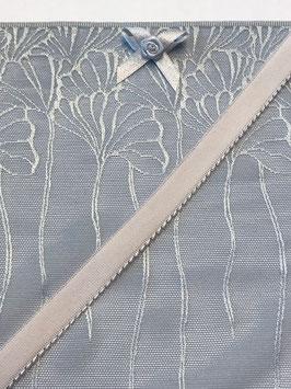 Slip Nähset stahlblau Stoff tranparent/grau
