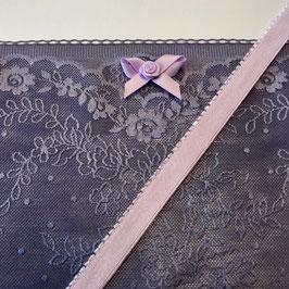 Slip Nähset violetblau Stoff transparent /lila