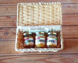 Coffret osier miels et nougat