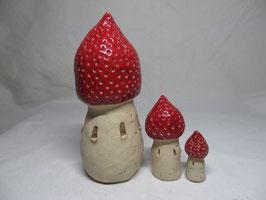 Schiefes Erdbeertürmchen rot gesprenkelt S M L