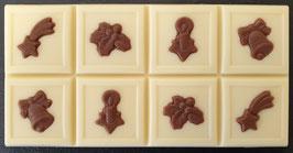 """Schoko Tafel """"Weihnachten"""", weisse Schokolade, ca. 80g"""