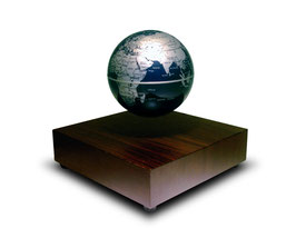 Globe terrestre sylver