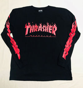 THRASHER FLAME OF SLEEVE L/S T-SHIRTS
