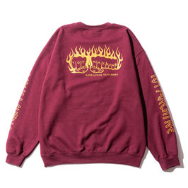 TOY MACHINE FLAME FIST EMBROIDERY SWEAT CREW