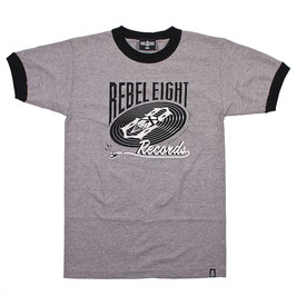 REBEL8 AND THE BEAT GOES ON RINGER TEE