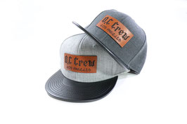 "(SALE50%OFF)O.C CREW ""BIG LOGO""LEATHER PATCH SNAP BACK"