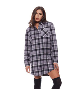 REBEL8 WOMENS ORNATE BADGE FLANNEL DRESS