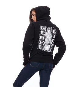 REBEL8 WOMENS HIT THE WALLS ZIP-UP HOODIE