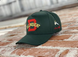 Delinquent Bros 1940s Style Logo 5 panel Snap Back Cap