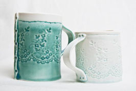 Light Blue Porcelain Lace Mug