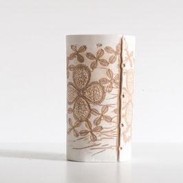 Oval Brown & White Clover Vase