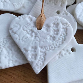 Porcelain Lace Heart