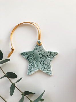 Large Ceramic Star Tree Topper