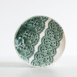 Green Lace Trinket Plate