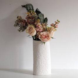 Oval White Clover Vase