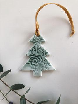 Large Ceramic Christmas Tree Tag