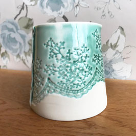 Small Porcelain Lace Jug / Pitcher