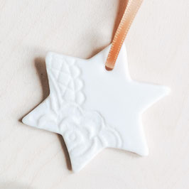 Porcelain Lace Ceramic Star