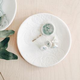 White Porcelain Trinket Plate / Dish