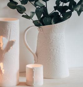 Large Porcelain Lace Jug