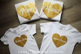 Individuelle ♥-Shirts mit Namen