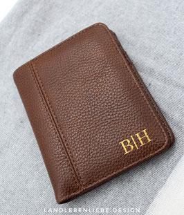 Edle Geldbörse mit Initialen