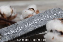 "Filzschlüsselanhänger ""Mental Health"""