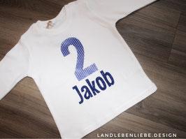Geburtstagsshirt Glitzer Blau