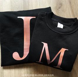 Sweatshirts mit Initialen