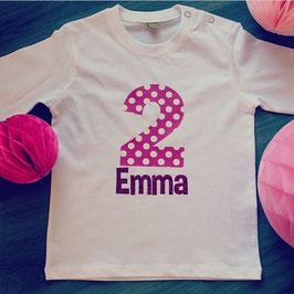 Geburtstagsshirt Glitzer Pink