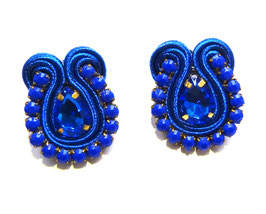 Soutache Ohrringe Mar Azul