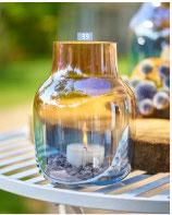 Glas Vase farbig