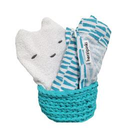 Baby's Badezimmer Geschenkset türkis (limitiert)