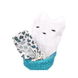 Geschenkset Badezimmer türkis leo (limitiert)