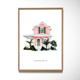"Wandbild ""SUMMER HOUSE"""