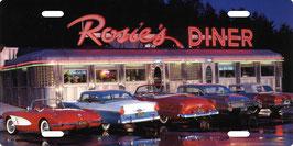 Plaque Immat Rosie's Diner